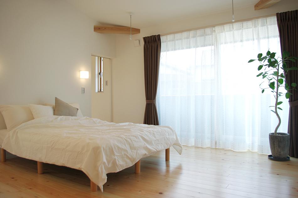 寝室,植物と暮らす,カーテン