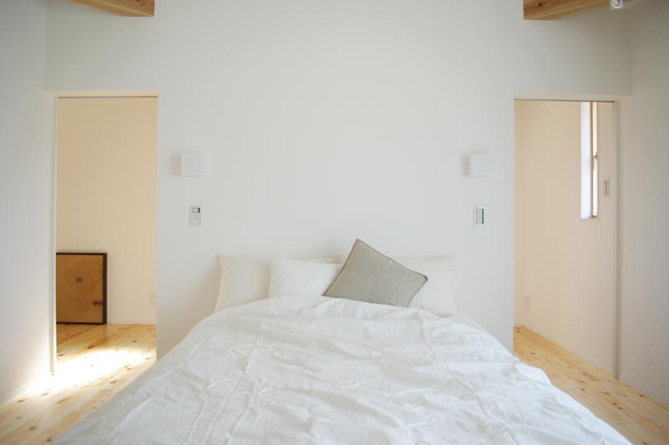 ベッド,白