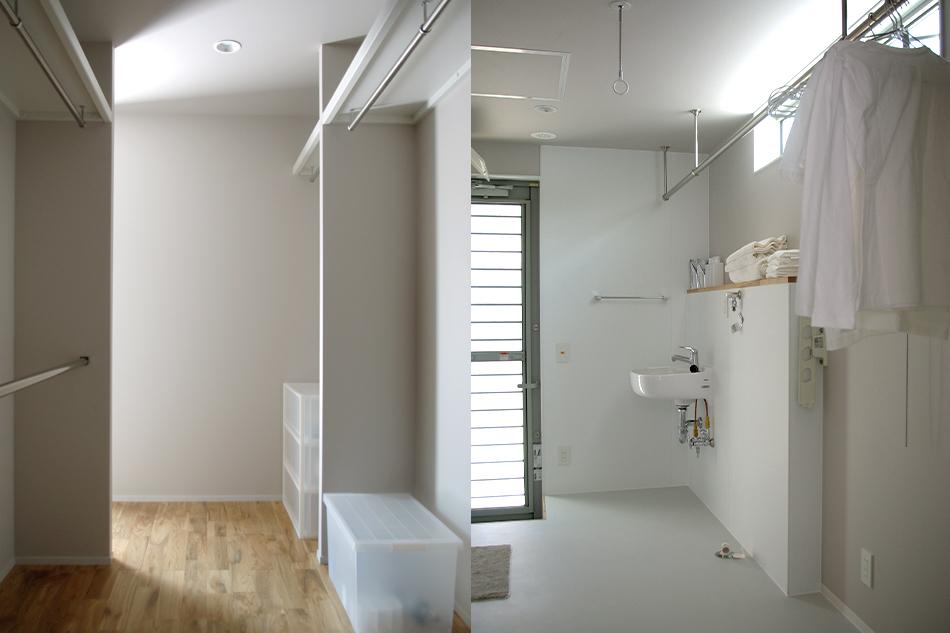 ウォークインクローゼット,収納,洗面脱衣室