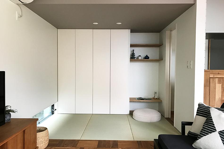 畳コーナー,収納,小さな書斎