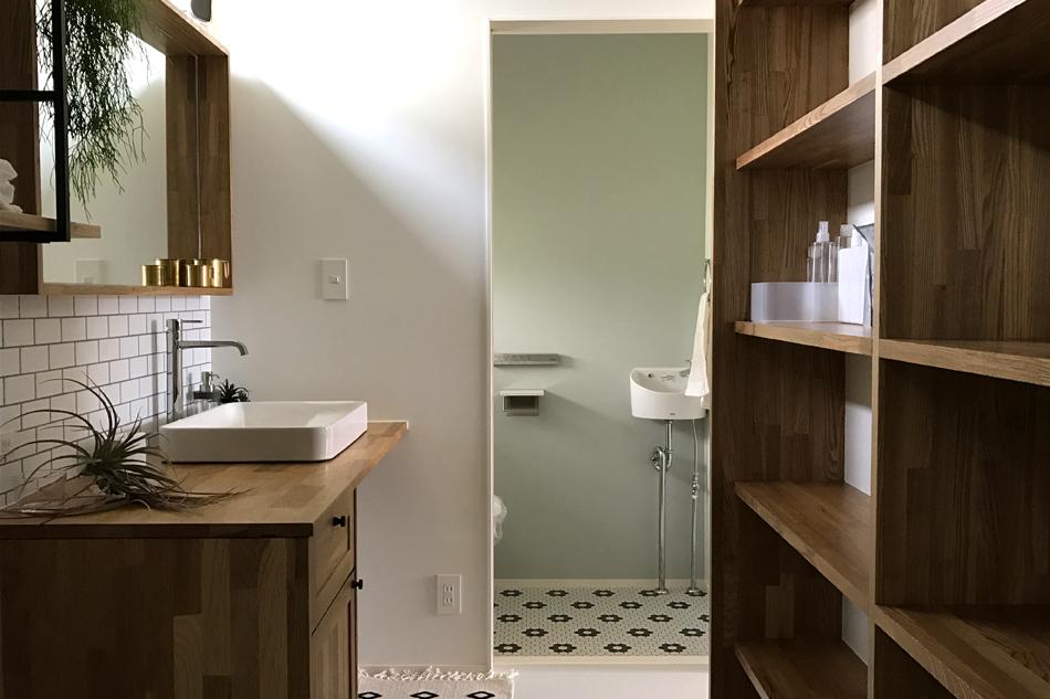 洗面,脱衣室,トイレ,タイル