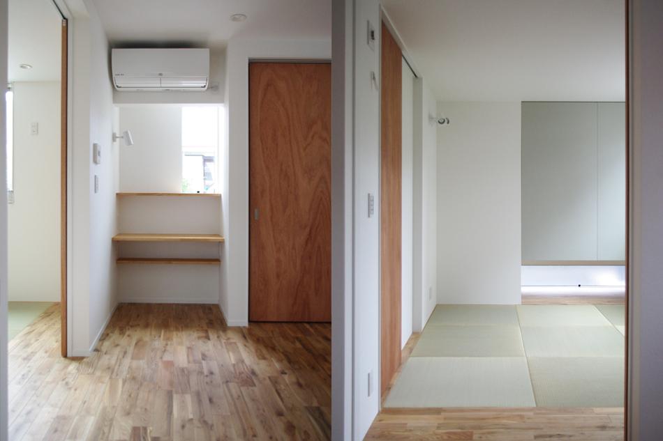 書斎,家事室,畳コーナー