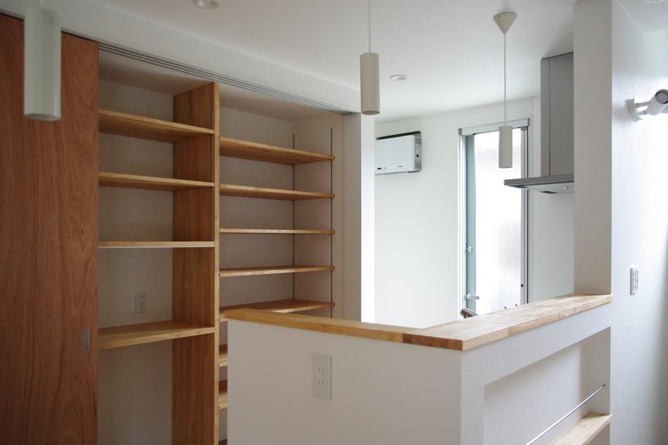 背面収納,食器棚
