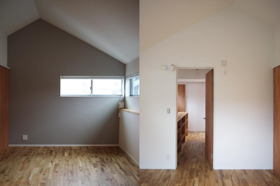 ラワン,寝室,勾配屋根