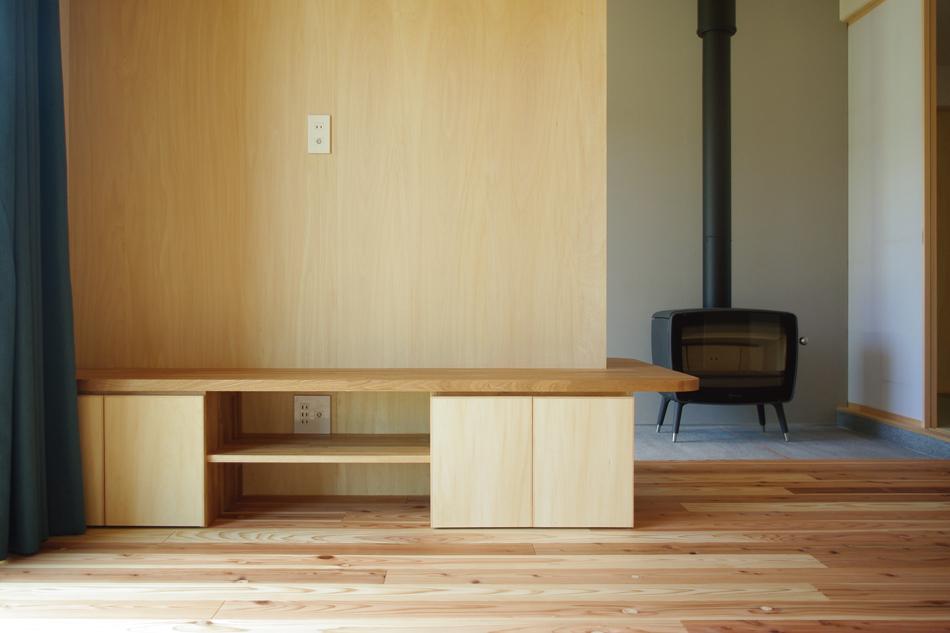 テレビボード,造作家具,玄関土間