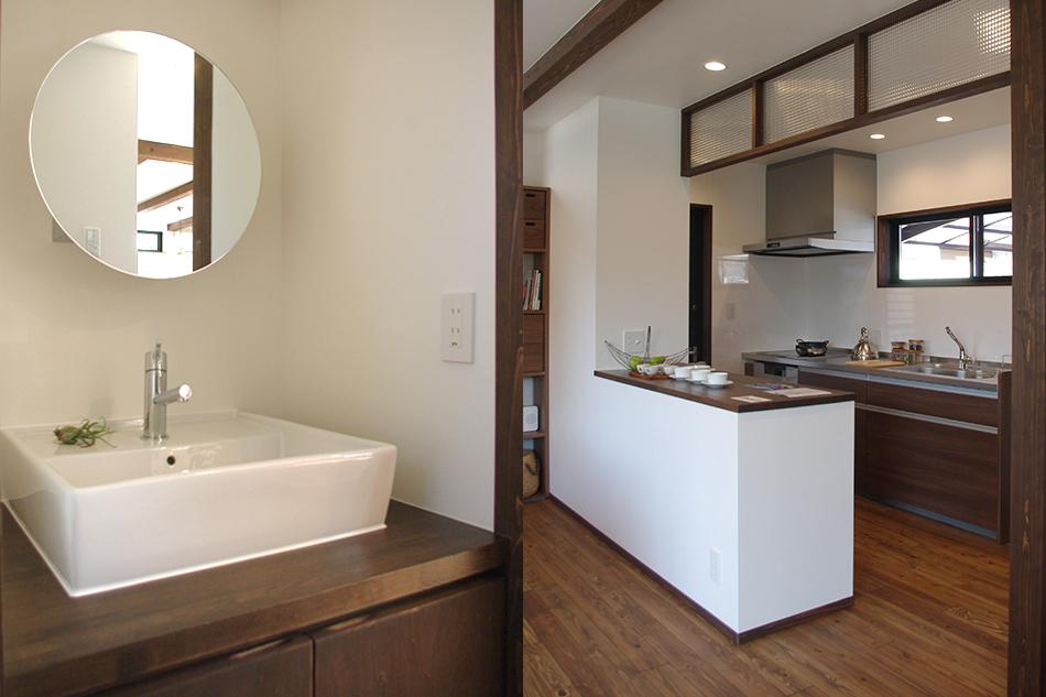 洗面,キッチン,ガラス
